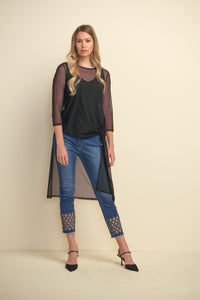 Embellished Jean by Joseph Ribkoff available in plus sizes
