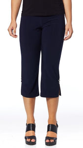 Capri Crop Pants with Slit