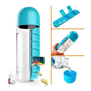 🧡2-in1 Pill Organizer Water Bottle