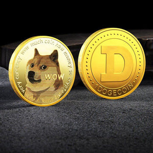 Dogecoin UV color printing Dogecoin new commemorative coin