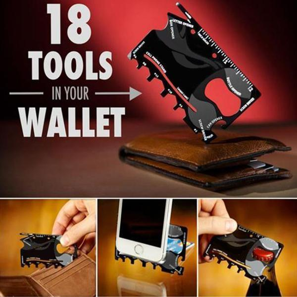 18 in 1 Multi-purpose Credit Card Tool