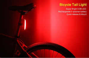 eZone 3-Mode 8-LEDs Bicycle Taillight with 2 Laser Lane Marker (Red)