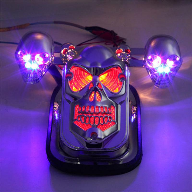 Halloween Pre-Sale-50% OFF-2020 Motorcycle Skull Rear Tail Light-BUY 2 FREE SHIPPING