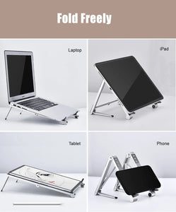 VAYDEER Portable Laptop Stand, 3 in 1 Magic Adjustable Laptop Riser Holder Computer Stand