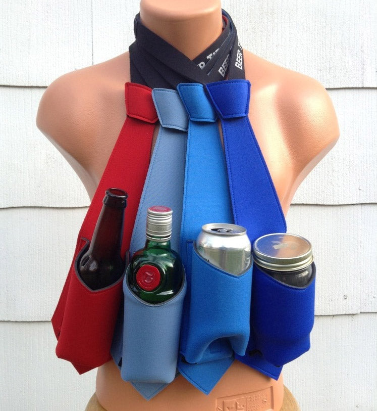 Hands-free cup holder-The Beer tie