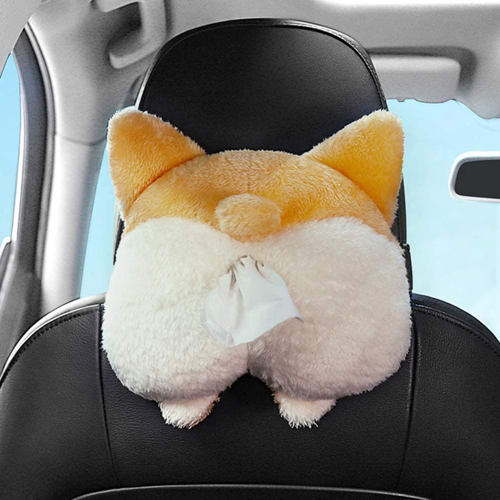 Cute corgi ass car tissue box