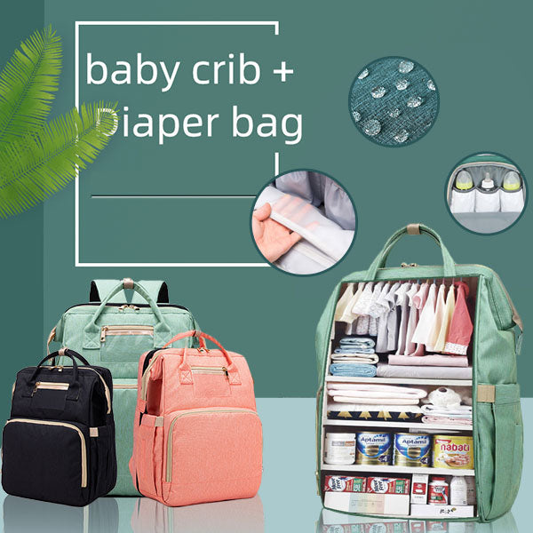 Multifunctional Travel Mommy Bag & Crib