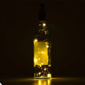 Super romantic LED bottle lamp, with cork DIY fairy tale string lamp, used for family wedding party decoration