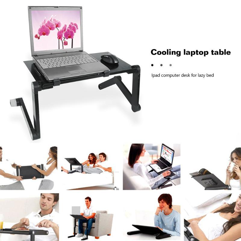laptop stand for bed with cooling fan