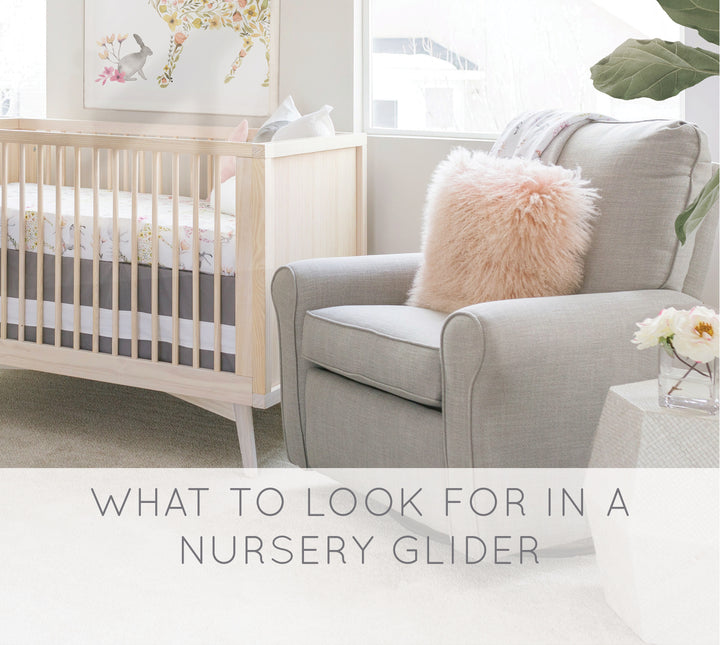 What to Look for in a Nursery Glider
