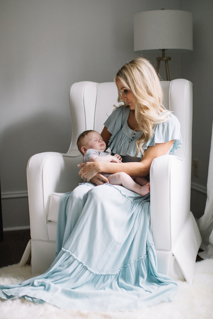 emily maynard on oilo nursery glider