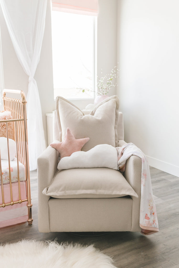 nursery glider with pillows