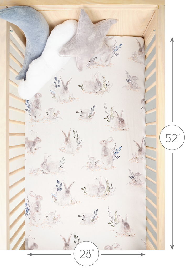 crib sheet size length and width