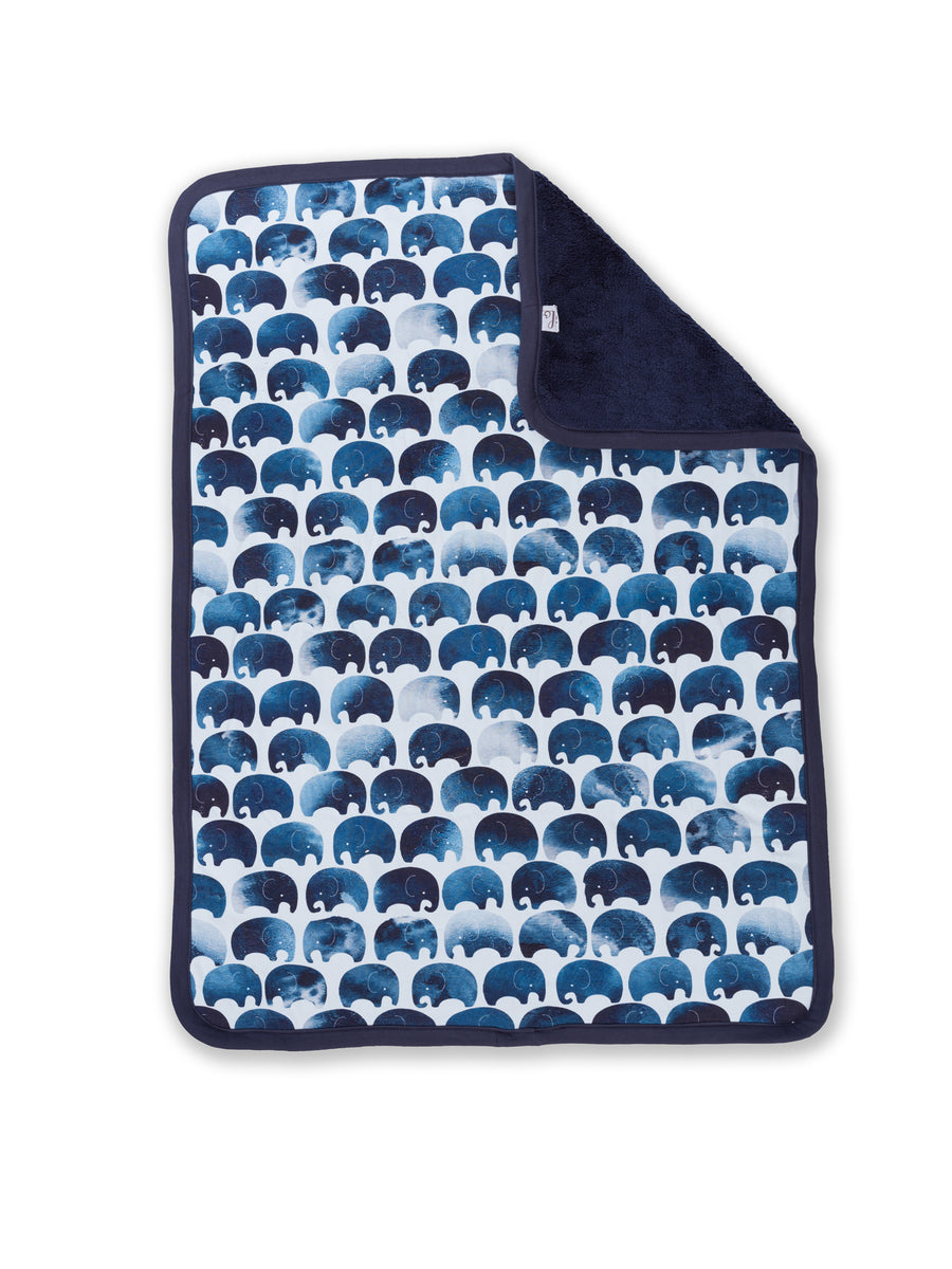 open elephant baby blanket