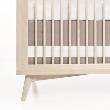 Solid Crib Skirt - Dove Taupe