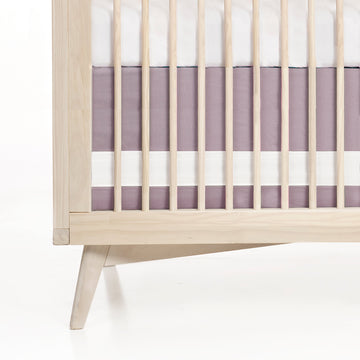 Solid Crib Skirt - Lavender