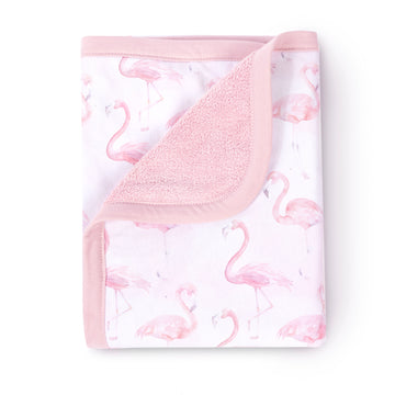 flamingo baby blanket