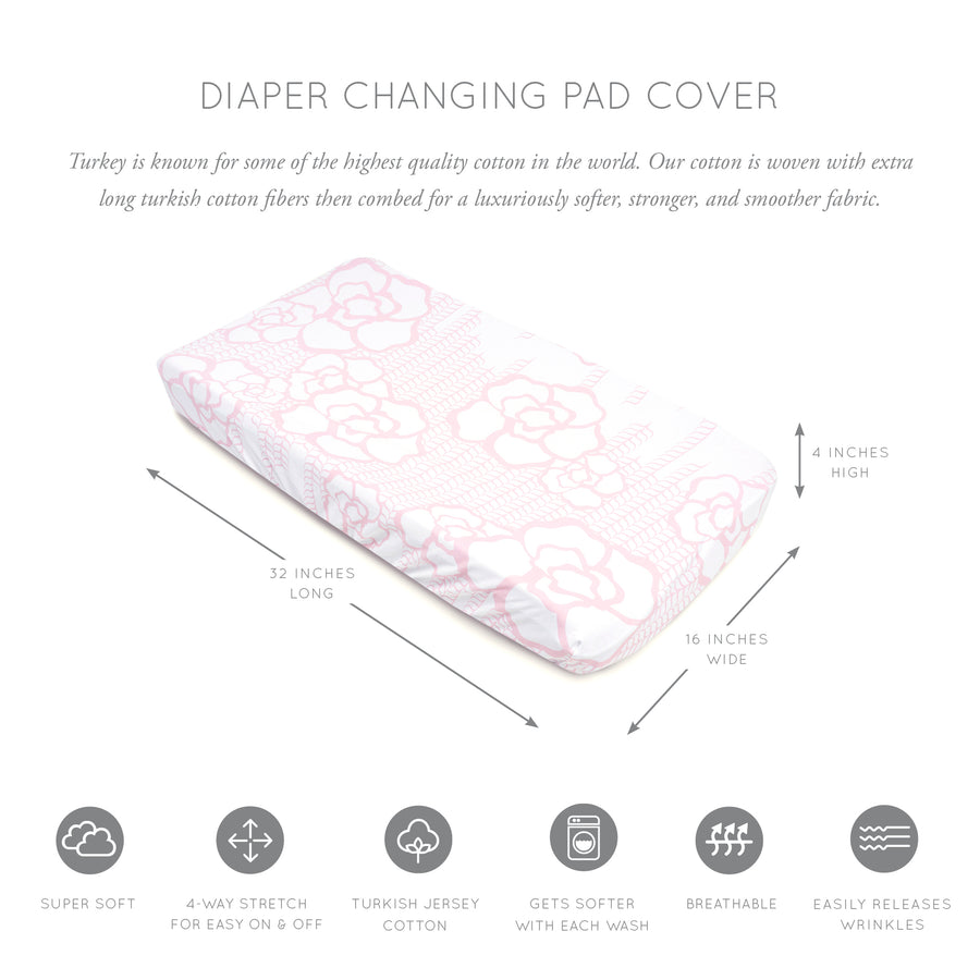 Capri Jersey Changing Pad Cover