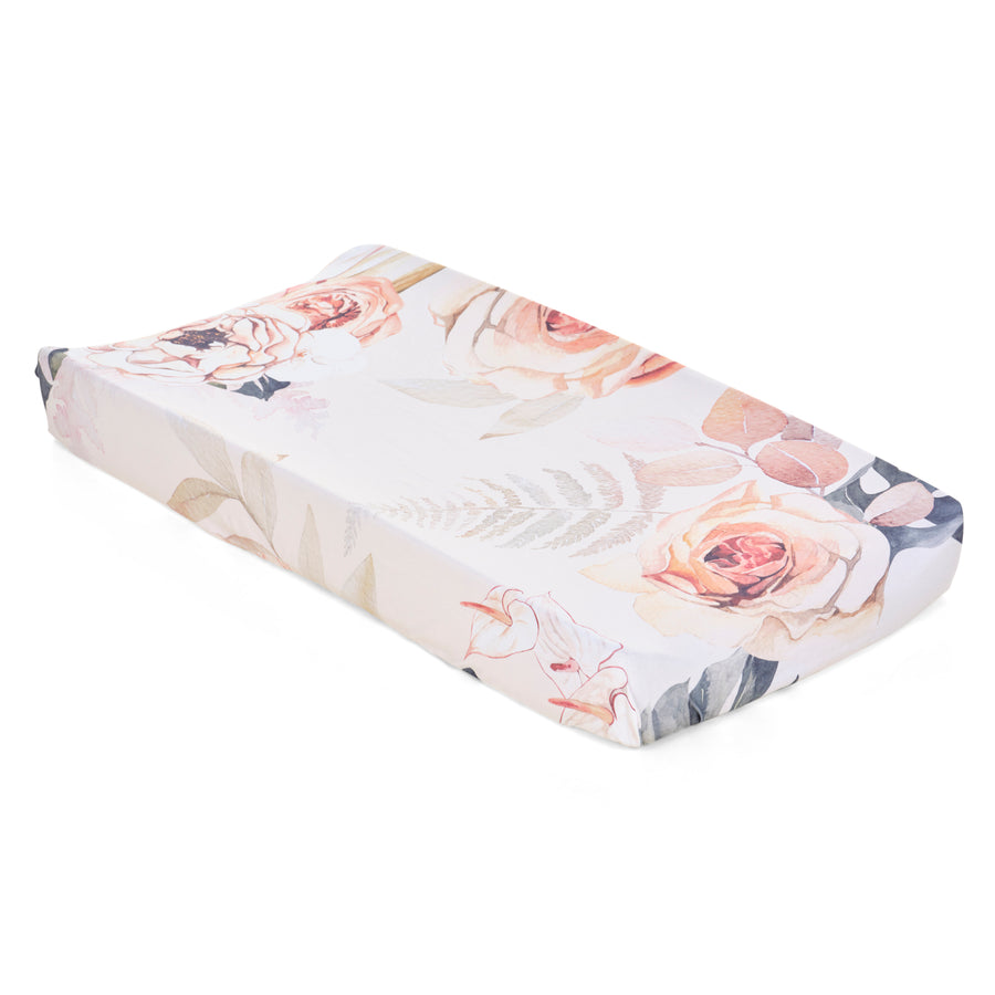 Vintage Bloom Jersey Changing Pad Cover
