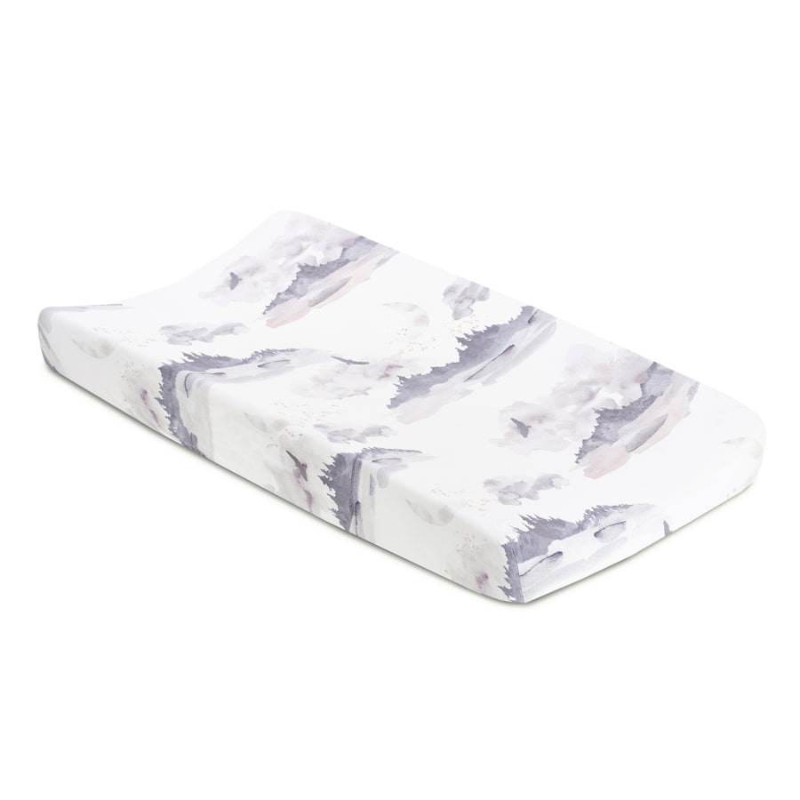 Misty Mountain Jersey Changing Pad Cover