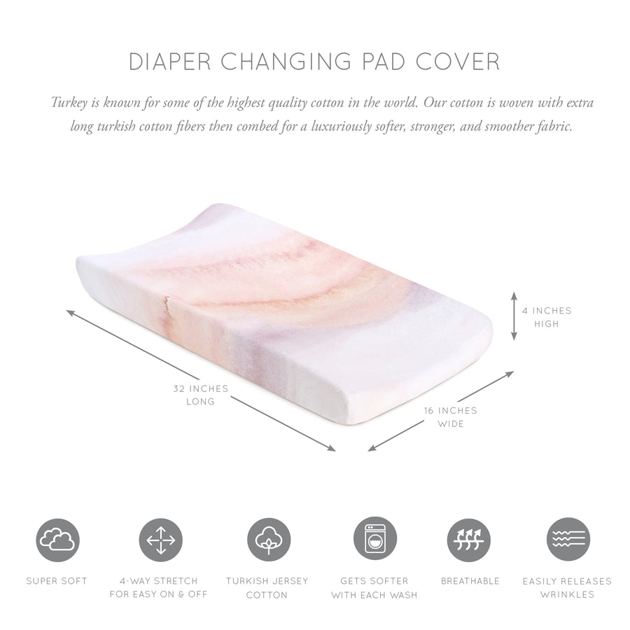 Sandstone Jersey Changing Pad Cover