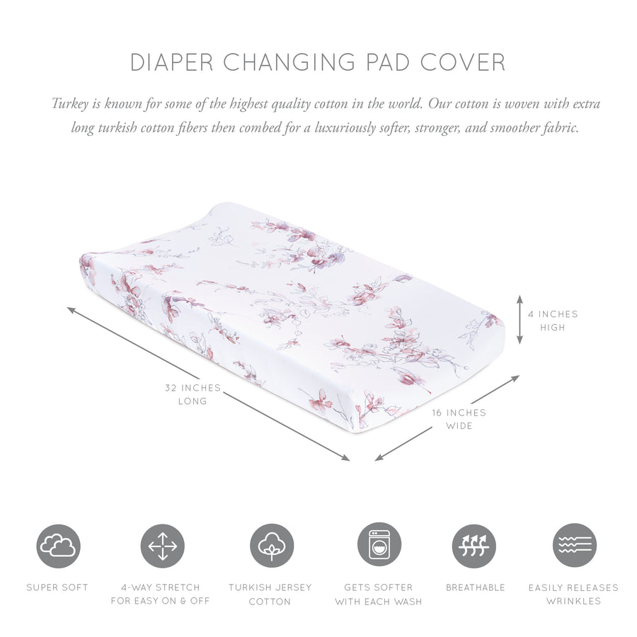 Bella Jersey Changing Pad Cover