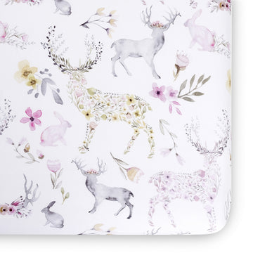 Fawn Jersey Crib Sheet- Blush