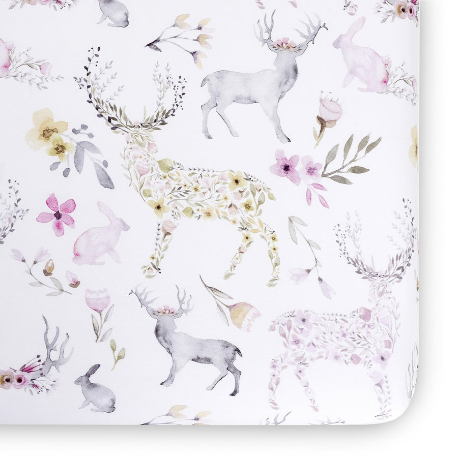 woodland crib sheet
