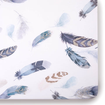 Featherly Jersey Crib Sheet