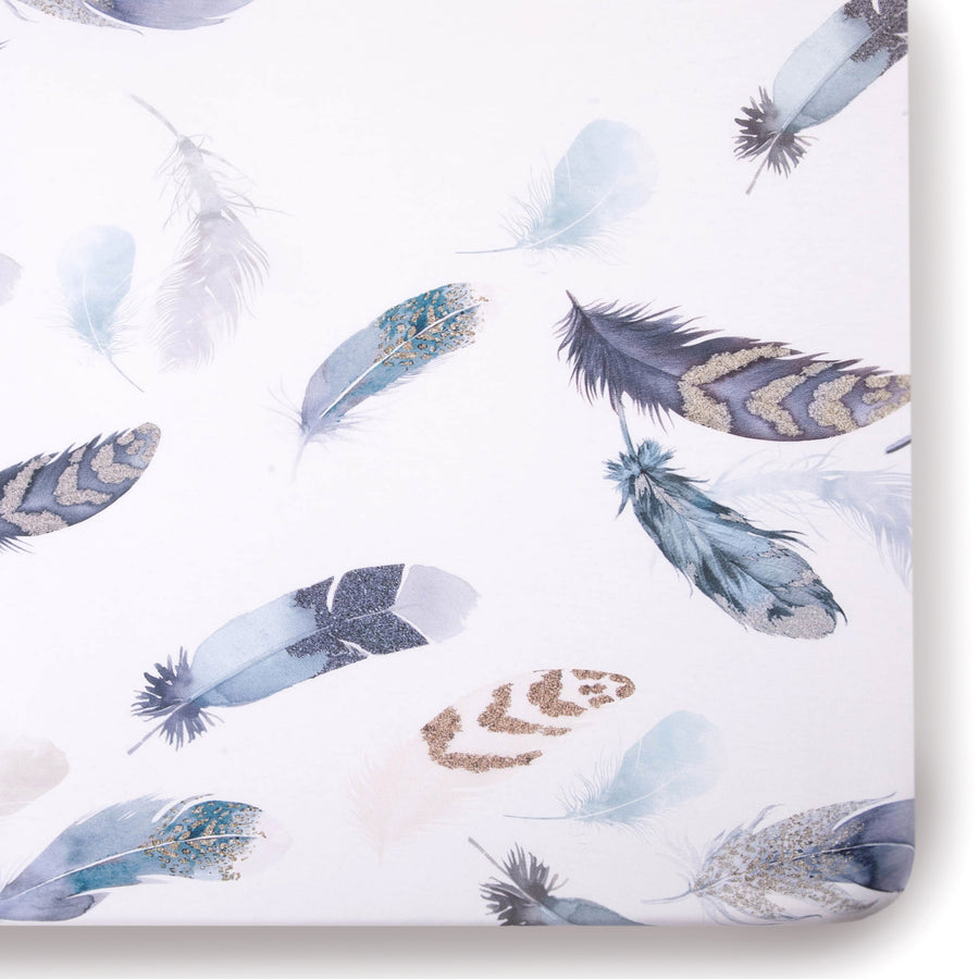 feather crib sheet