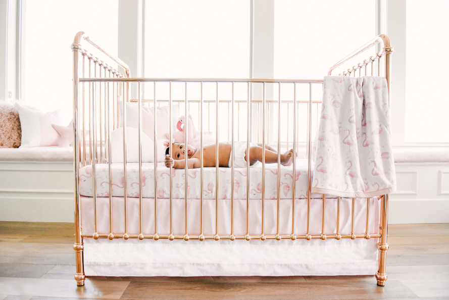 flamingo crib sheet and blanket