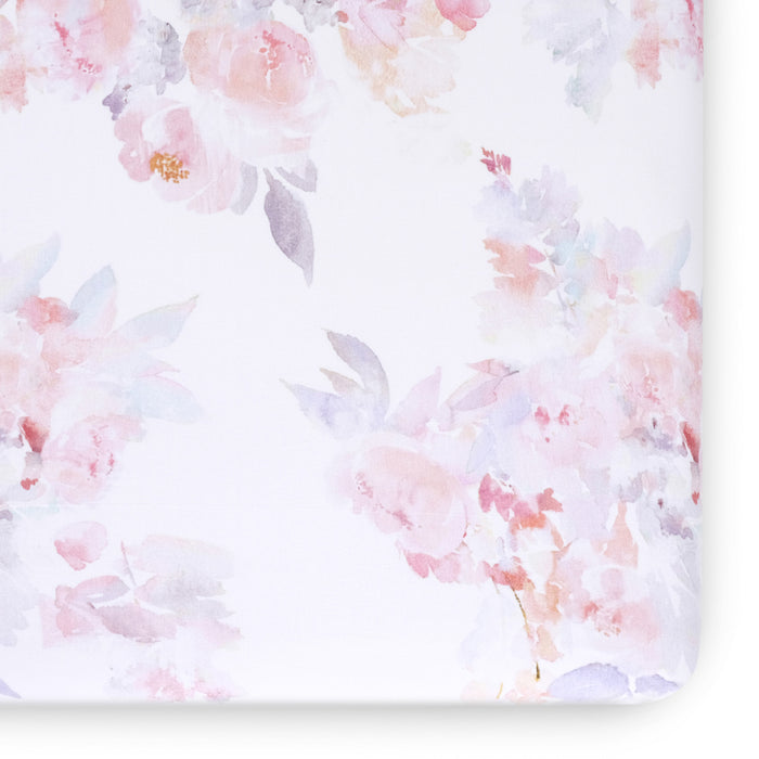 Prim Jersey Crib Sheet- Blush