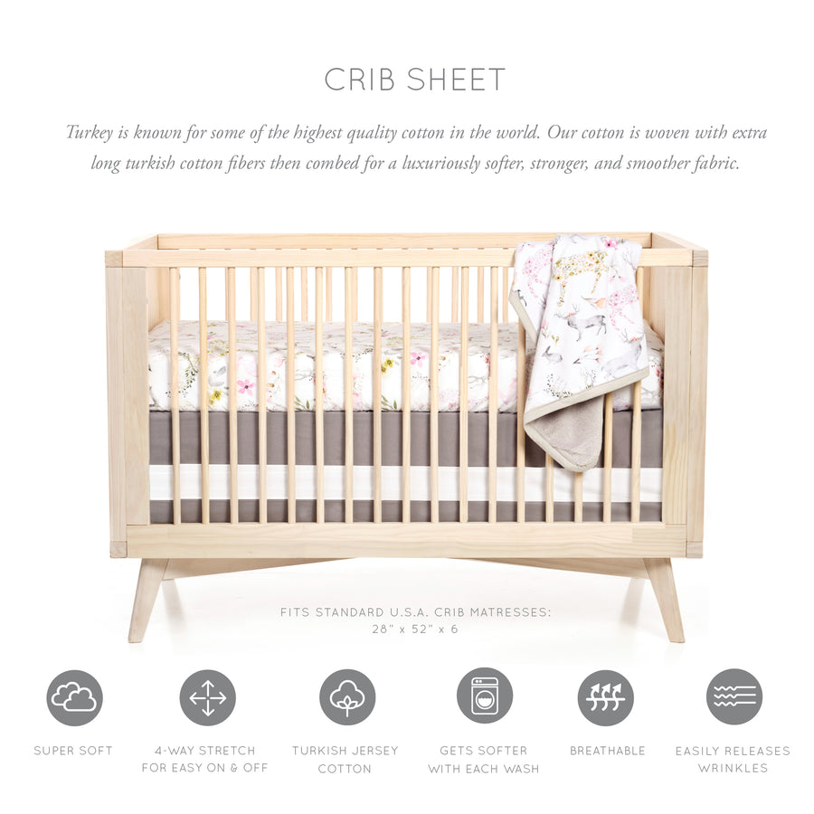 Woodland Fawn Crib Sheet
