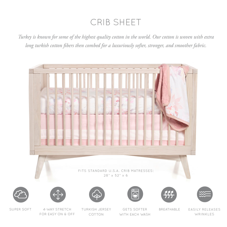 Prim Floral Crib Sheet