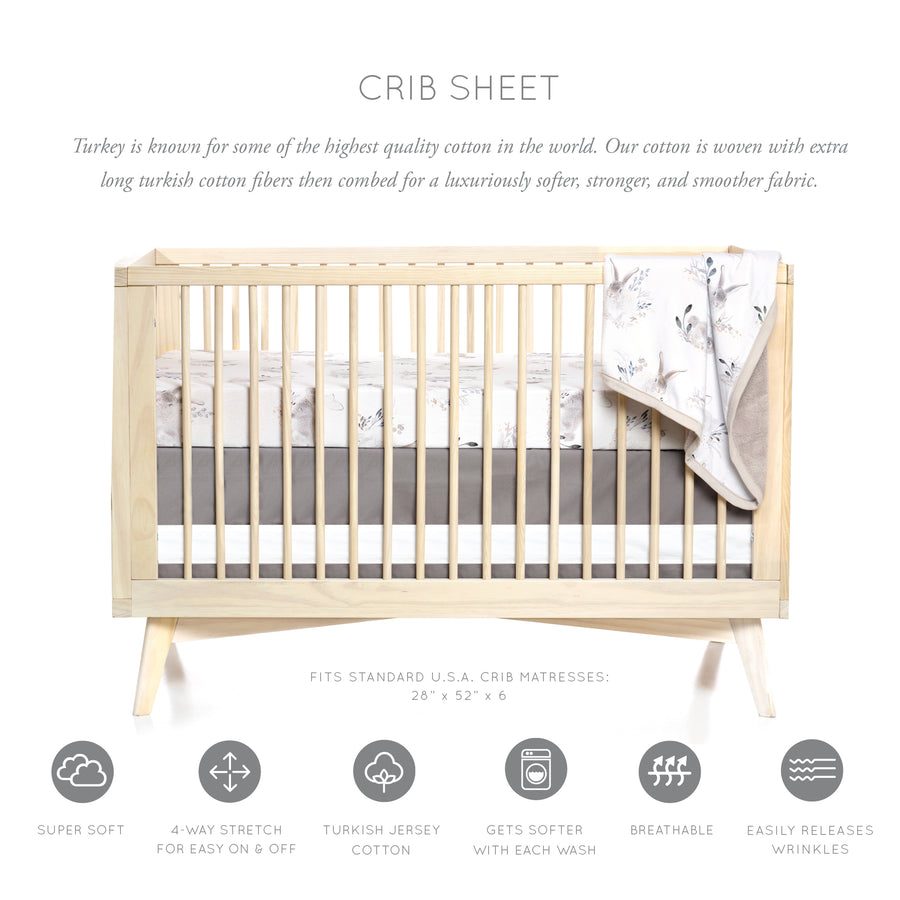 Cottontail Crib Sheet