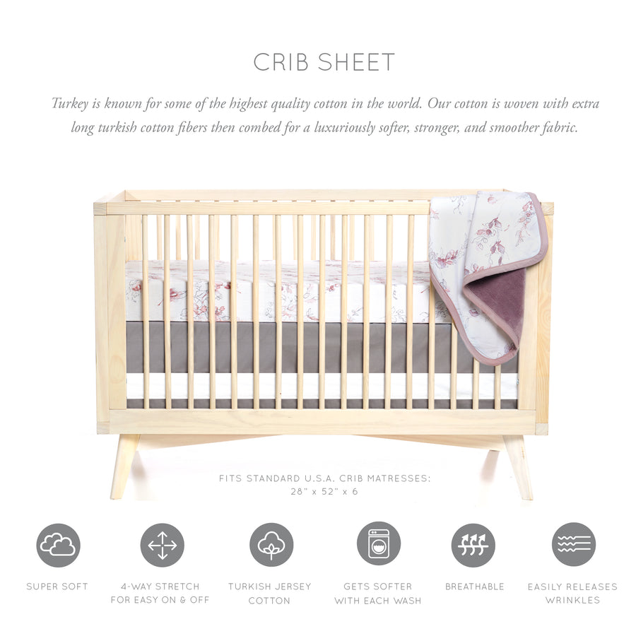 Bella Floral Crib Sheet