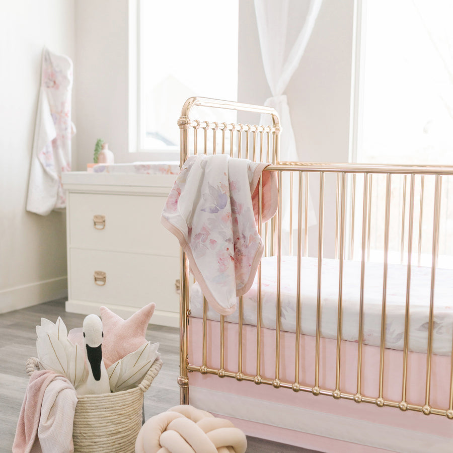 crib and dresser in nursery