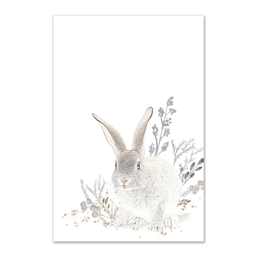 sitting bunny wall art