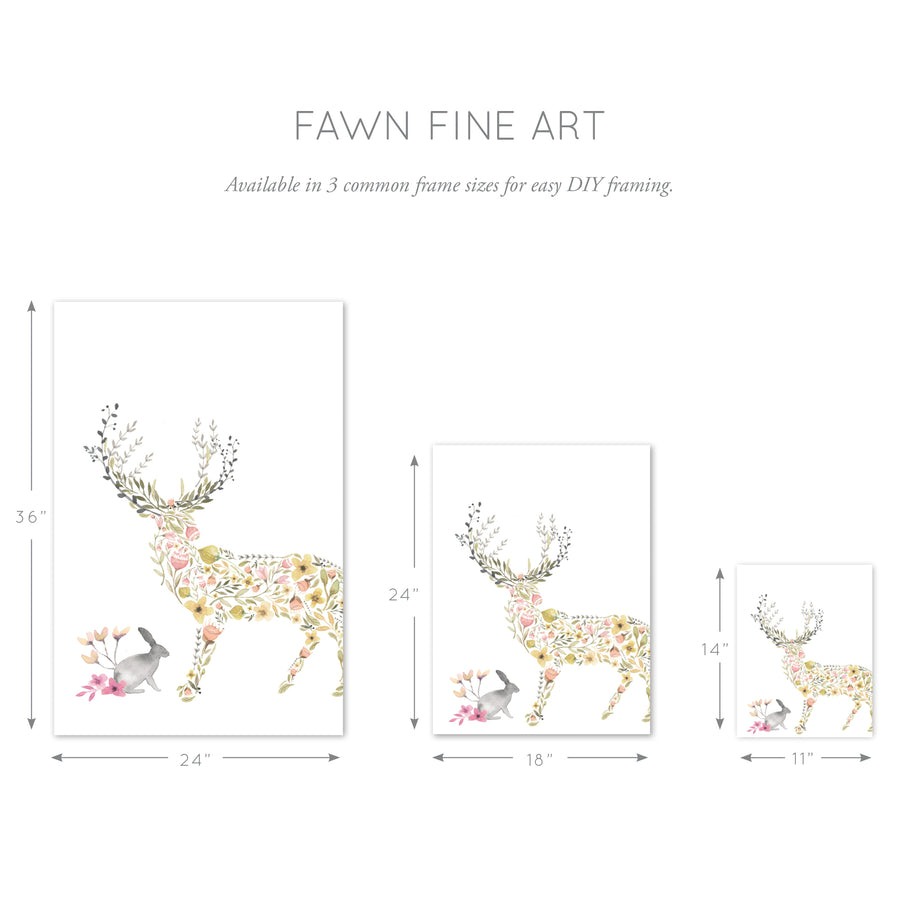 Fawn Woodland Wall Art