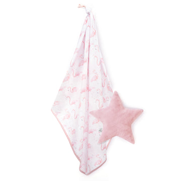 Flamingo Soft Stretch Blanket + Star