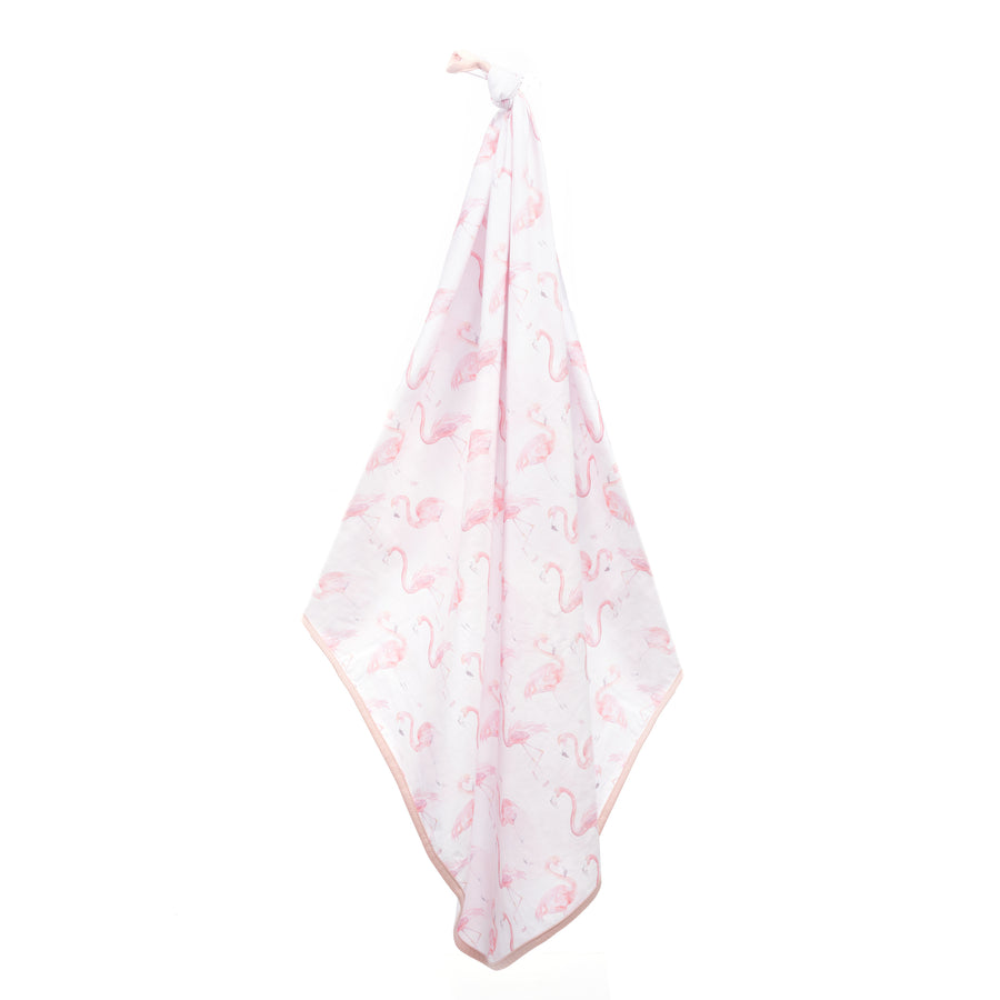 Flamingo Soft Stretch Swaddle Blanket