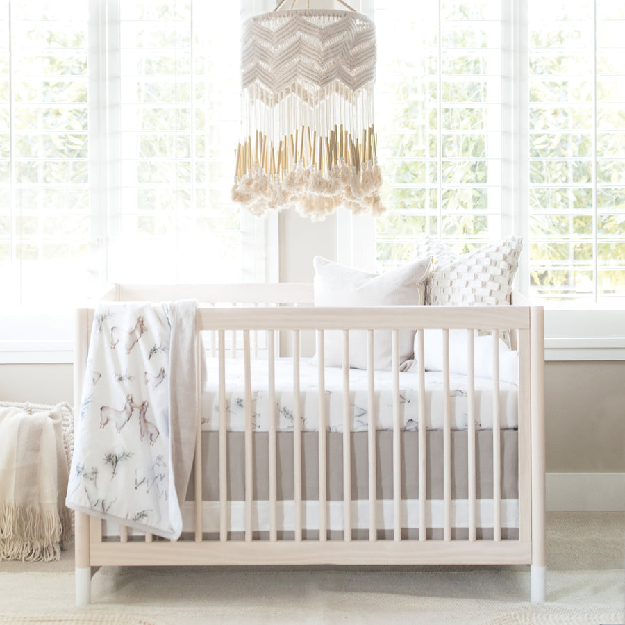 Solid Crib Skirt - Dove