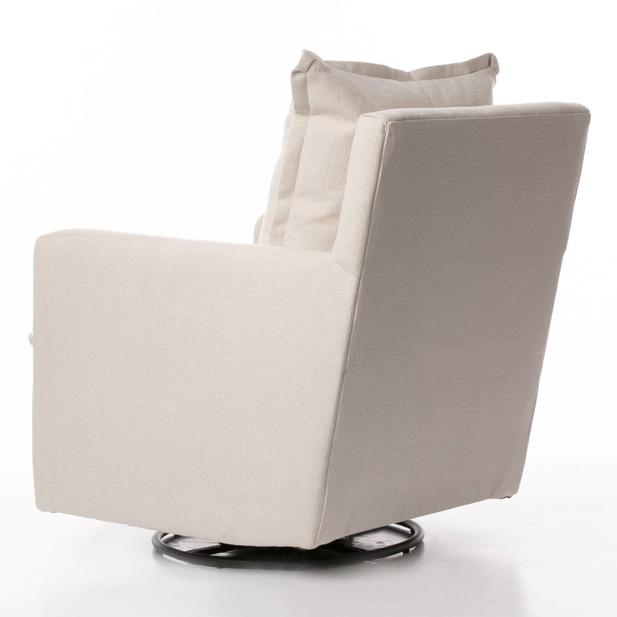 Nola Swivel Glider – High Performance Ecru