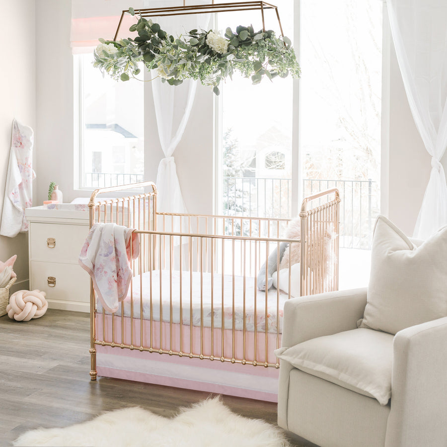 Solid Crib Skirt - Blush