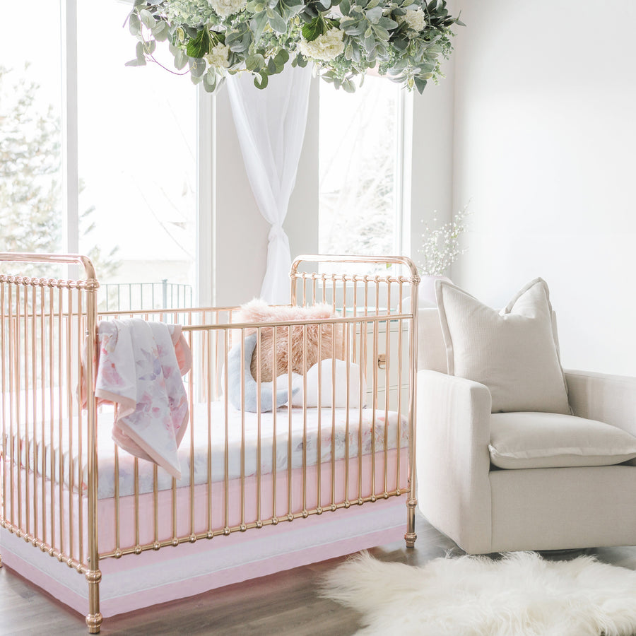 nursery room with flowers