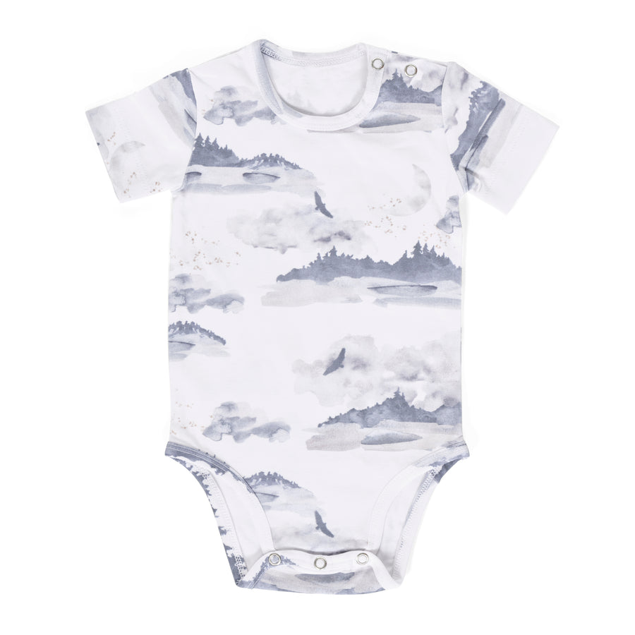 Misty Mountain Gift Set- Onesie and Swaddle