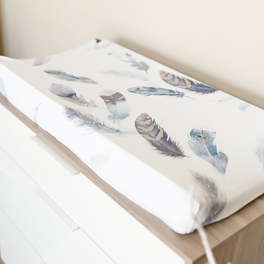 Featherly Jersey Changing Pad Cover