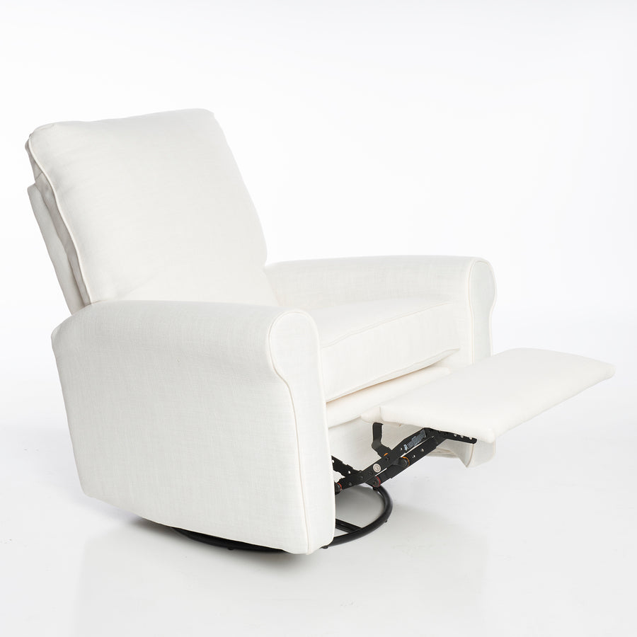 Orly Recliner Swivel/Glider in Melton Pebble or High Performance Ecru