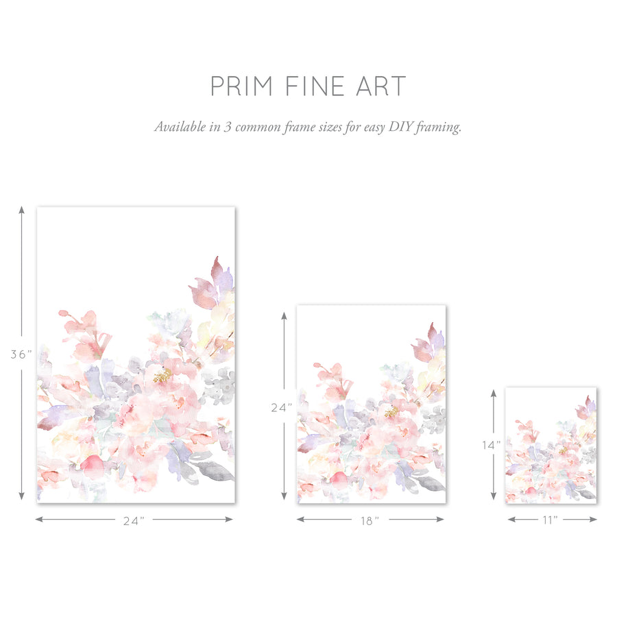floral wall art three sizes