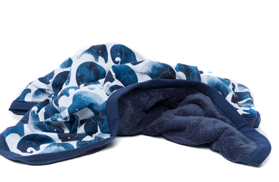 Elefant Cuddle Blanket + Indigo Moon Pillow
